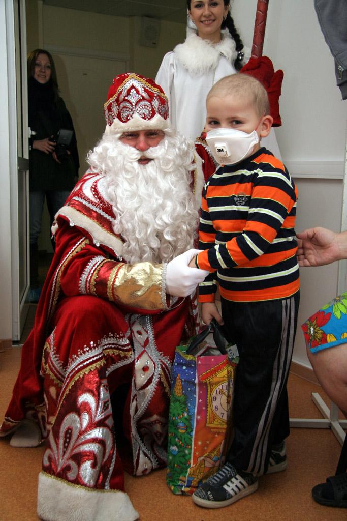 Дед Мороз в Онкоцентре